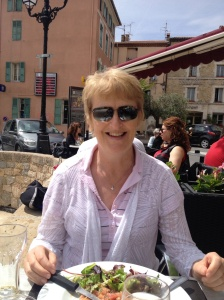 Anne's birthday lunch in Montauroux, France