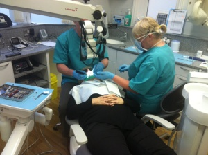 One of our show stoppers being dealt with - Anne getting root canal and absces treated