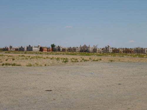 Typical muslim cemetry in Kazakhstan