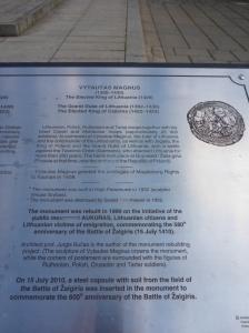 Kaunas monument to Vytautas Magnus