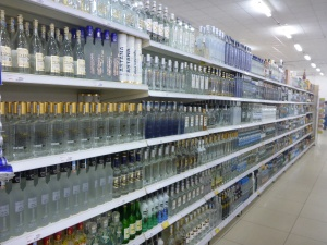 "Kyzylorda ""Small"" supermaket - enough choice of vodka?!"