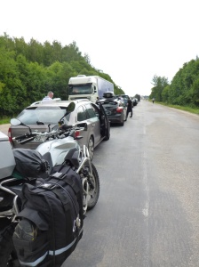 Little did we know when we arrived 25th in line in the Latvia/Russia border that it would take us 7 hours to get through