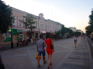Strooling down Penza street - Russian women are always so well dressed!