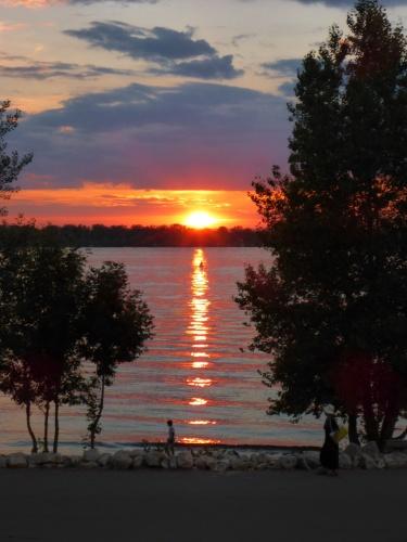 Sunset over the Volga at Samara