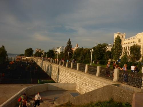 Samara riverfront at dusk