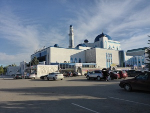 Aqtobe's interesting Nurdaulet complex which includes a mosque, shopping centre, amusement park and zoo