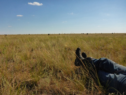 The expansive Steppes of Kazakhstan from a relaxed position