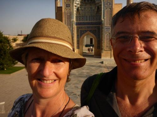 2SlowSpeeds in front of Amir Temur's mausoleum, Samarkand, Uzbekistan