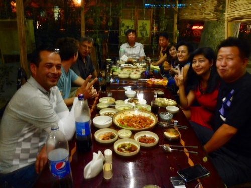 We were invited to join this group of Uzbeks and Koreans as soon as we walked into a Korean restaurant in Samarkand - what a fun evening ensued - little did we know we'd see them again a couple of days later...