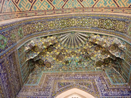 Sher-Dor madrasah, Registan, Samarkand, Uzbekistan
