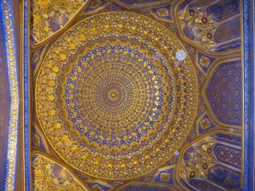 Tilya-Kori madrasah, Registan, Samarkand, Uzbekistan