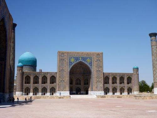 Front of Tilya-Kori madrasah, Registan, Samarkand, Uzbekistan
