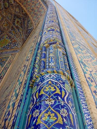 Arch of the Tilya-Kori madrasah, Registan, Samarkand, Uzbekistan