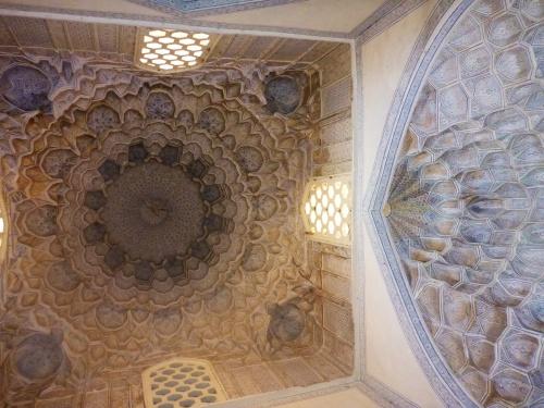 Double dome mausoleum, Shahi-Zinda necropolis, Samarkand, Uzbekistan