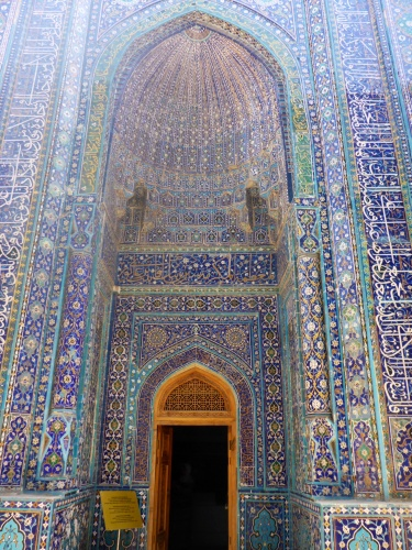 Built by Temur for his sister, Shirin Beka, Shahi-Zinda necropolis, Samarkand, Uzbekistan