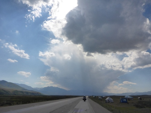 Storm brewing along the Suusamyr valley