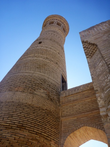 Xoja Kalon - minaret in Bukhara, Uzbekistan.  I was blown away by the brick work - until I saw the next one...
