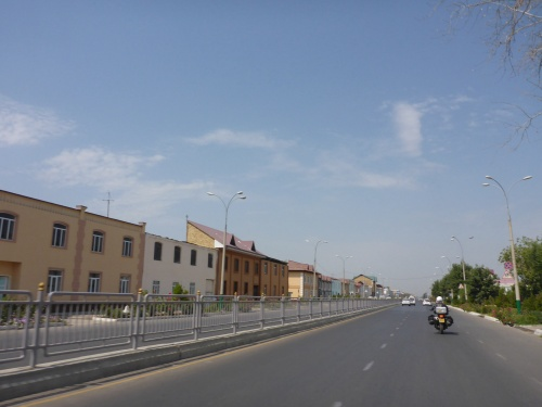Heading into Andijan, Uzbekistan