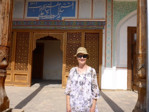 Anne at Kudhayar Khan Palace, Uzbekistan