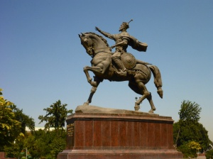 The mighty Amir-Temur, on the square named after him, Toshkent, Uzbekistan