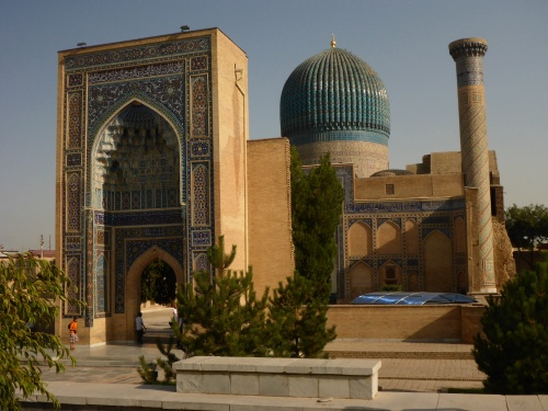 Amir Temur Mausoleum, which Amir Temur built for his favourite grandson Muhammad Sultan who suddenly died in 1403, Samarkand, Uzbekistan