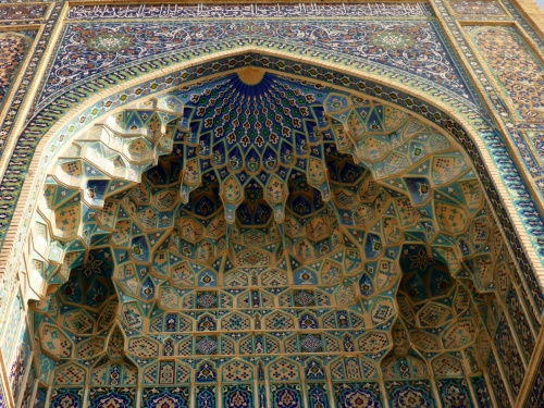 Amir Temur mausoleum, Samarkand, Uzbekistan- deep niches and muqarnas decorations