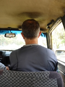 Taxi ride in Kashan with all the usual safety deatures of seatbelts & headrests