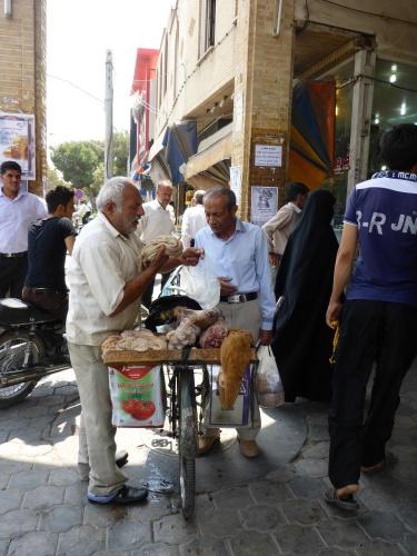 Mobile butcher, Kashan, Iran