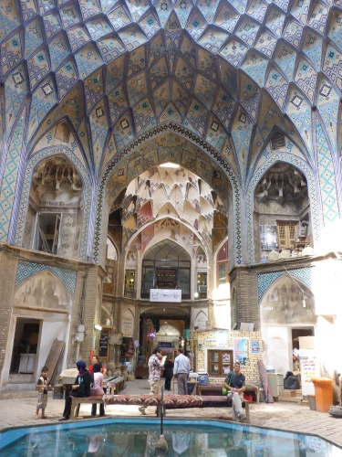 Stunning ceiling of the Kashan bazar, Iran