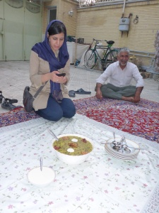 Delicious osh is being served for dinner, Isfahan, Iran