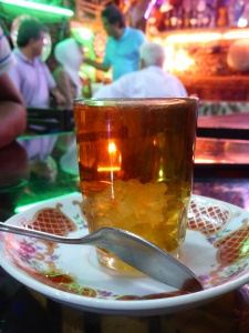 Iranian tea with just a bit of sugar