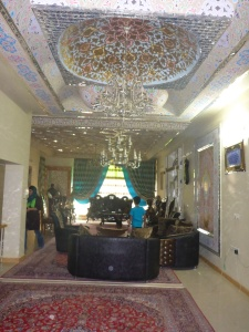 Zoreh's aunt's home with amazing mirrows and wall & ceiling decorations, Isfahan, Iran