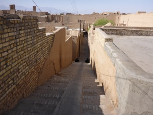 Backstreets on our way to Yazd city centre