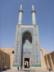 Jameh mosque, with the tallest minarets in Iran - Yazd, Iran