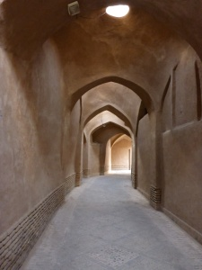 Covered winding street in the old town, Yazd, Iran