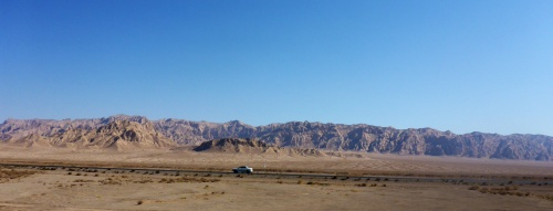 Heading out of Yazd, Iran