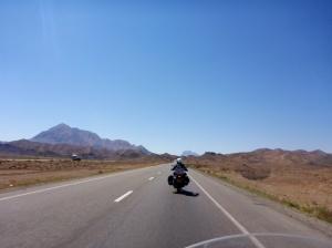 Highway from Yazd to Kerman, Iran