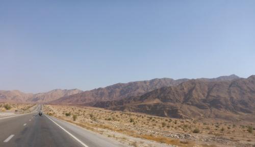 Ever changing mountains as we head towards Banda Abbas, Iran