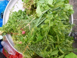 Iranian 'vegetables' consist of parsley, mint, lots of it, basil and other herbs with the odd raddish