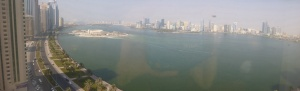 View from our lounge in Sharjah