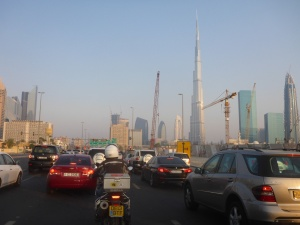 Heading back across Dubai from Jumeira