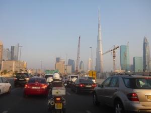 Heading back across Dubai from Jumeira
