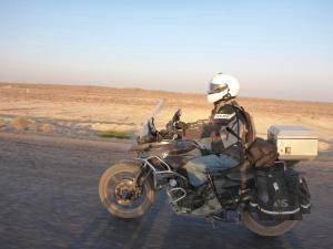 Lovely cool early morning morning ride towards Ashgabat, Turkmenistan