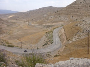 The lovely twisty road towards our campsite for our first night in Iran, near Dor Badam, Iran