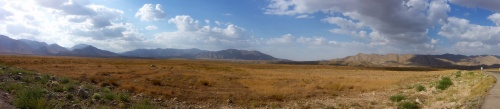 Stunning high plain, with the Iran border post at Bajgiran seen in the background