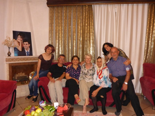 At Afrooz's brother Babak and his wife Reihaneh for dinner - Behshahr