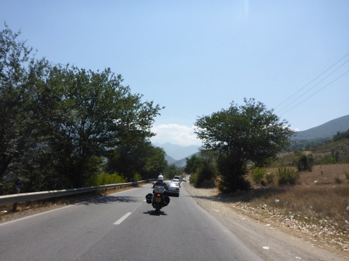 Beautiful Chalus road, pity about the rubbish