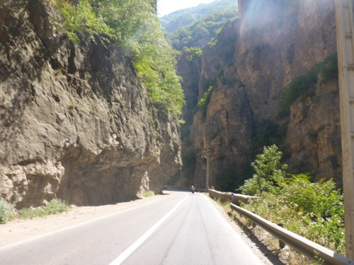 The ever changing scenery along the Chalus road, Iran