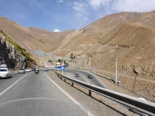 Another hairpin bend on the Chalus road - didn't know when I took this photo that we were going to come back and head up the valley straight ahead to Dizin