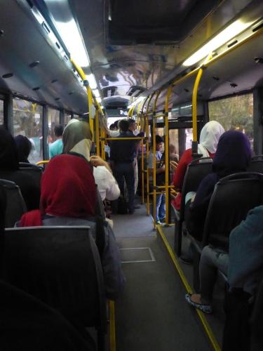 Segrated buses - Tehran, Iran